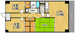 兵庫県宝塚市武庫山2丁目の賃貸マンションの間取り