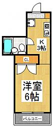 グリーンロードマンション飯田[4階]の間取り