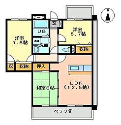 K's2002[317号室号室]の間取り