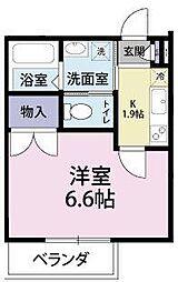 西船橋駅前マンション[4階]の間取り
