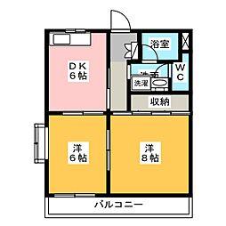 リバーK&T II[3階]の間取り