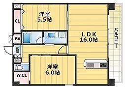 グランドゥーエ永和駅前[903号室号室]の間取り