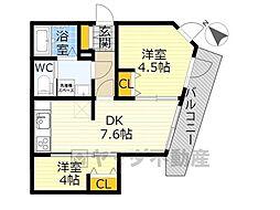 NOZOMIO OHIMACHI TERRACE 1階2DKの間取り