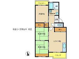 兵庫県神戸市西区王塚台2丁目の賃貸マンションの間取り