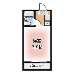 シャンポール松本[302号室]の間取り