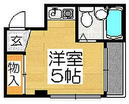 シティライフ堺東[4階]の間取り