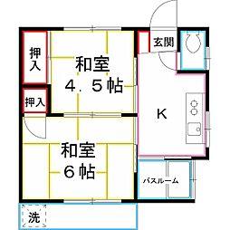 [一戸建] 東京都小平市学園東町1丁目 の賃貸【/】の間取り