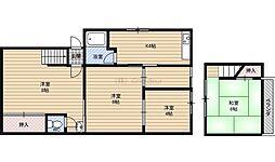 都島本通4-5-13 貸家 1階4DKの間取り