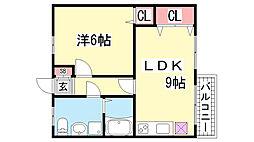 富井マンション[302号室]の間取り