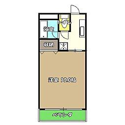 高知県高知市愛宕町2丁目の賃貸マンションの間取り