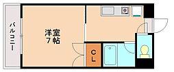 フラワーマンション清水[2階]の間取り