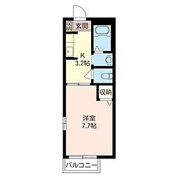 デルニエ湘南台[1階]の間取り