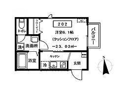 (仮称)カーサ立花[2階]の間取り