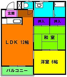 静岡県浜松市東区大蒲町の賃貸マンションの間取り