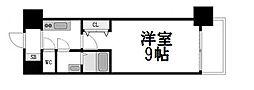 大阪府大阪市中央区淡路町2丁目の賃貸マンションの間取り