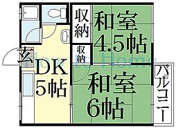 ルマ斉藤[1階]の間取り