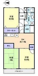 アドリーム幕張本郷吉野[1階]の間取り