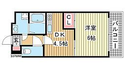 サンフォーレ岡本[2階]の間取り
