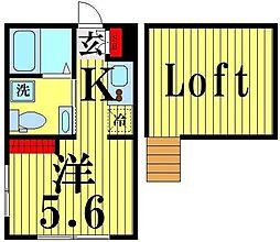 JR山手線 恵比寿駅 徒歩9分の賃貸マンション 4階ワンルームの間取り