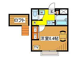 東京都府中市美好町2丁目の賃貸アパートの間取り
