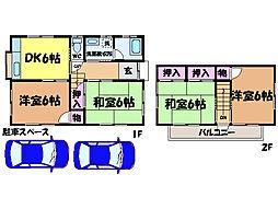 [一戸建] 愛媛県松山市東石井6丁目 の賃貸【愛媛県 / 松山市】の間取り