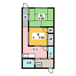 [一戸建] 愛知県名古屋市南区呼続元町 の賃貸【/】の間取り