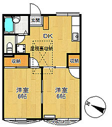 トラッドハウスM[2階]の間取り