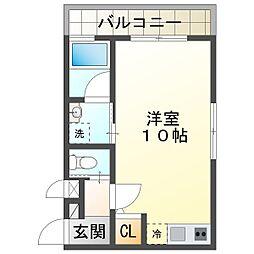 ワコーレヴィアーノ須磨関守町2丁目 2階1Kの間取り