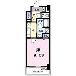 高松琴平電気鉄道琴平線 三条駅 徒歩11分の賃貸マンション 4階1Kの間取り