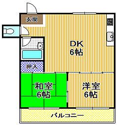 メロディハイツ吉積[3階]の間取り