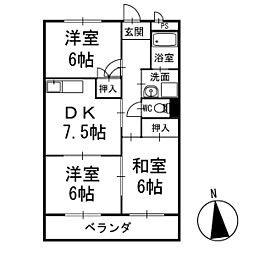 ネヴァランド上里 1階[104号室]の間取り