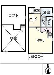ヴィラ名古屋駅[1階]の間取り