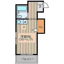 JR山手線 大塚駅 徒歩2分の賃貸マンション 2階ワンルームの間取り