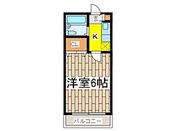 コワフール[4階]の間取り