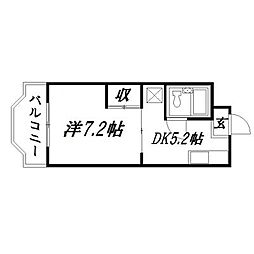 静岡県浜松市中区上島3丁目の賃貸マンションの間取り