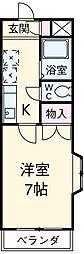 愛知県安城市篠目町1丁目の賃貸アパートの間取り