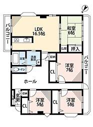 南方安部邸[3階]の間取り