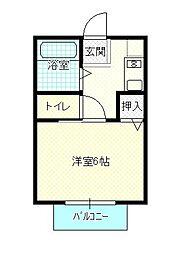 島根県松江市浜乃木1丁目の賃貸アパートの間取り