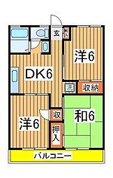 パ−ルハイツ木立47[2階]の間取り