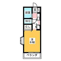 メゾンブリューネ[2階]の間取り