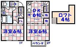 [テラスハウス] 千葉県市川市高谷2丁目 の賃貸【/】の間取り