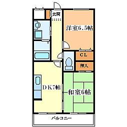 アジサイマンション[101号室]の間取り