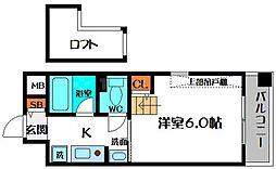 エステムコート大阪城前OBPリバーフロント[9階]の間取り