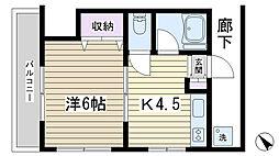 ミユキ ハイツ[202号室]の間取り