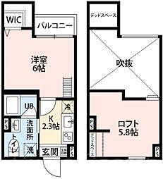 大阪府堺市堺区五条通の賃貸アパートの間取り