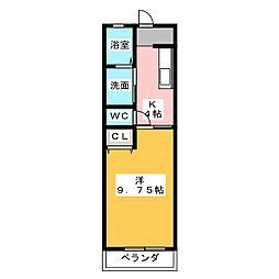 フォーレストII[1階]の間取り