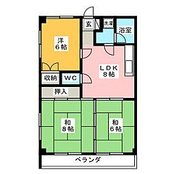 岩崎ハイツA[2階]の間取り