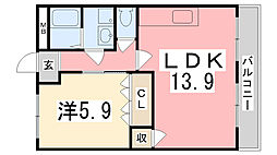 アベニール細江[105号室]の間取り