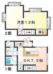 兵庫県神戸市垂水区五色山2丁目の賃貸マンションの間取り