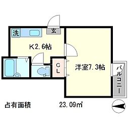 下堤谷口マンション[1階]の間取り